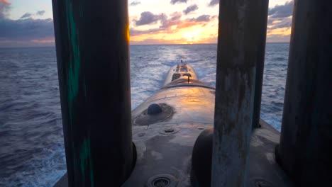 The-Uss-Texas-A-Us-Navy-Nuclear-Submarine-At-Sea-1