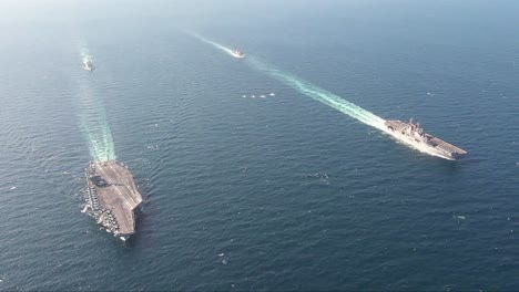 Aerial-Of-Us-Navy-Ships-And-Aircraft-Carriers-Of-The-John-C-Stennis-Carrier-Strike-Group