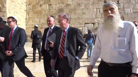 Us-National-Security-Advisor-John-Bolton-Tours-Jerusalem-Israel-And-The-Wailing-Wall-Western-Wall-2