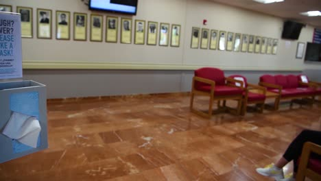 An-Emergency-Waiting-Room-At-A-Hospital-Offers-Sanitary-Wipes-Hand-Sanitizer-And-Masks-To-Patients