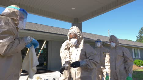Members-Of-The-National-Guard-Sanitize-An-Senior-Living-Facility-During-Covid19-Outbreak