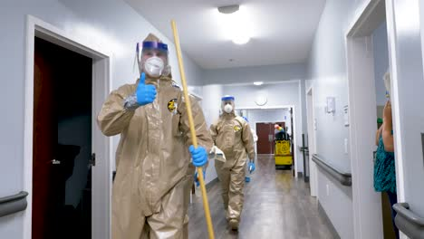 Members-Of-The-National-Guard-Sanitize-An-Senior-Living-Facility-During-Covid19-Outbreak-3