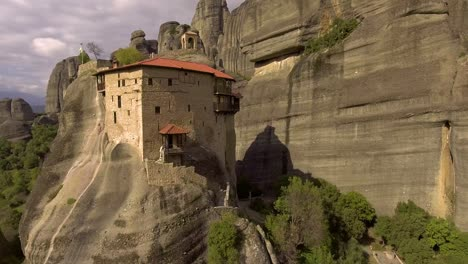 Beautiful-aerial-over-the-rock-formations-and-monasteries-of-Meteora-Greece-1
