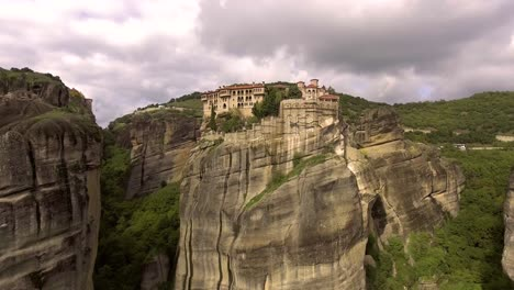 Beautiful-aerial-over-the-rock-formations-and-monasteries-of-Meteora-Greece-2