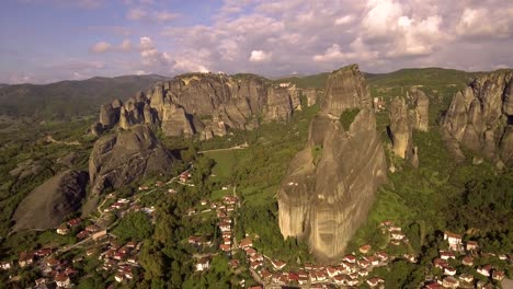 Beautiful-aerial-over-the-rock-formations-and-monasteries-of-Meteora-Greece-5
