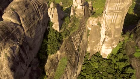 Beautiful-aerial-over-the-rock-formations-and-monasteries-of-Meteora-Greece-7