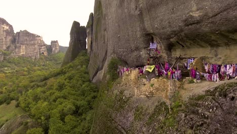 Beautiful-aerial-over-the-rock-formations-and-monasteries-of-Meteora-Greece-8