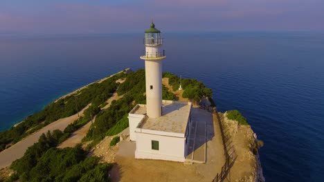 Aerial-around-the-lighthouse-at-Lefkada-Greece-1