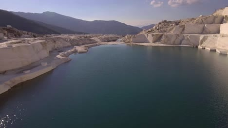 Beautiful-aerial-over-a-marble-quarry-at-dawn-1