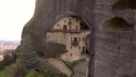Beautiful-aerial-over-the-rock-formations-and-monasteries-of-Meteora-Greece-9