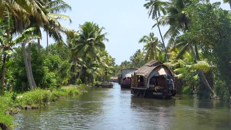 Houseboats-travel-on-the-backwaters-of-Kerala-India