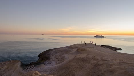 Timelapse-Punta-Colorado-panning-Baja-California-Mexico-sunset