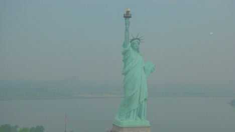Helicopter-aerial-of-the-Statue-of-Liberty-in-New-York-City-2