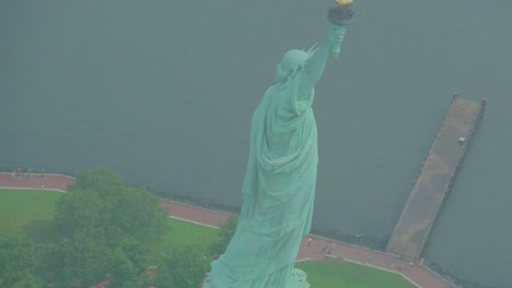 Helicopter-aerial-of-the-Statue-of-Liberty-in-New-York-City-4