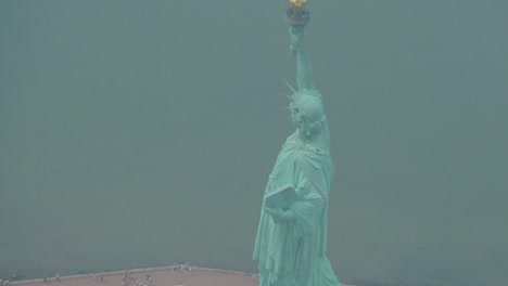 Helicopter-aerial-of-the-Statue-of-Liberty-in-New-York-City-5