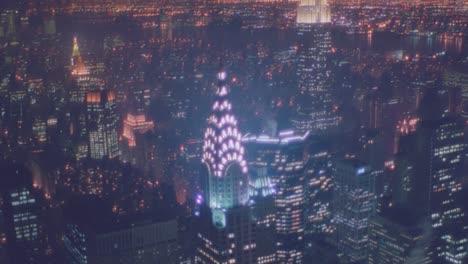 Nightime-aerial-of-Manhattan-New-York-skyline-night-includes-Chrystler-Building
