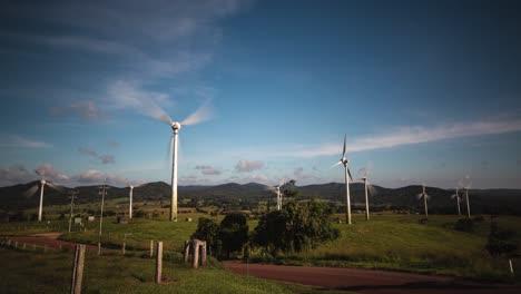 Lapso-De-Tiempo-De-Un-Parque-Eólico-En-Ravenshoe-Queensland-Australia