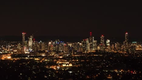 Time-lapse-dusk-to-night-of-Brisbane-Queensland-Australia
