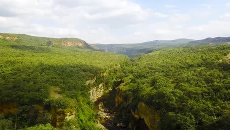 Aerial-of-Rift-Valley-in-Hell-s-Gate-National-Park-Kenya-Africa