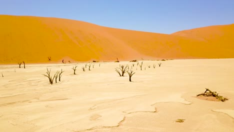 Vista-Aérea-around-the-dead-trees-at-Sossusvlei-desert-sand-dunes-in-the-Namib-Desert-Namibia-Africa