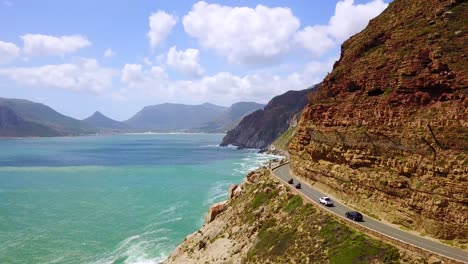 Aerial-of-the-beautiful-coastline-and-narrow-roads-south-of-Cape-Town-South-Africa-2
