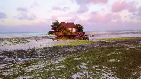 A-small-hut-restaurant-or-bar-on-a-beach-near-Stonetown-Zanzibar-Africa