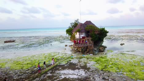 A-small-hut-restaurant-or-bar-on-a-beach-near-Stonetown-Zanzibar-Africa-3