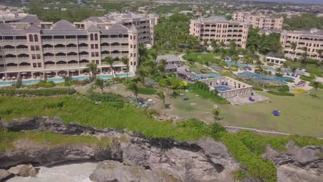 Aerial-of-the-coast-and-luxury-resort-hotels-on-the-Caribbean-island-of-Barbados