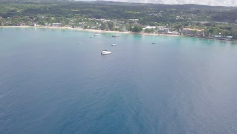 Aerial-tilt-up-from-ocean-to-reveal-the-Caribbean-island-of-Barbados