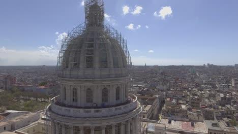 Aerial-around-the-capital-dome-reveals-the-city-of-Havana-Cuba