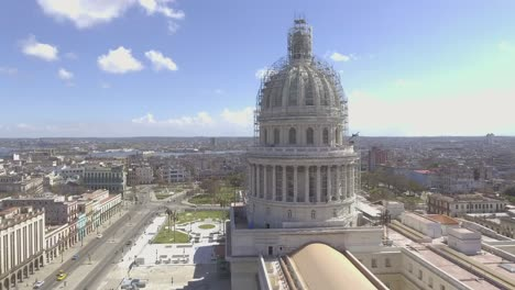 Aerial-around-the-capital-dome-reveals-the-city-of-Havana-Cuba-1