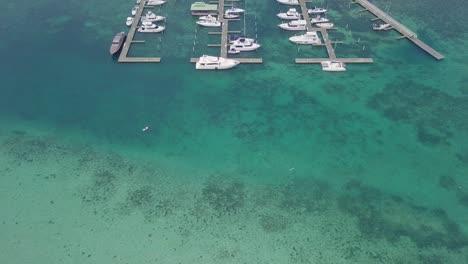 Vista-Aérea-over-pleasure-boats-and-yachts-in-the-harbor-at-Boca-Chica-Dominican-Republic-2