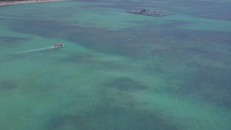 Antena-Sobre-El-Centro-De-Nado-Con-Delfines-En-Punta-Cana-En-La-República-Dominicana