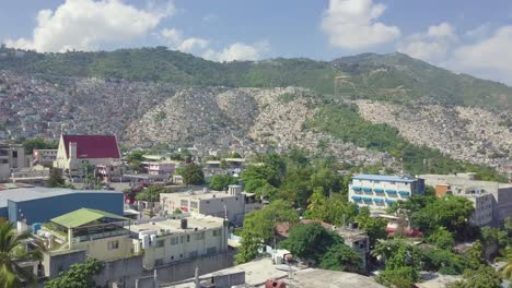 Amazing-aerial-over-the-slums-favela-and-shanty-towns-in-the-Cite-Soleil-district-of-Port-Au-Prince-Haiti