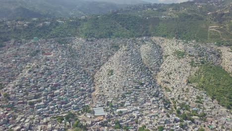 Amazing-aerial-slowly-approaching-the-endless-slums-favelas-and-shanty-towns-in-the-Cite-Soleil-district-of-Port-Au-Prince-Haiti