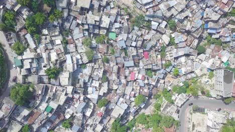 Aerial-looking-straight-down-over-the-endless-slums-favelas-and-shanty-towns-in-the-Cite-Soleil-district-of-Port-Au-Prince-Haiti