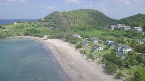 Antena-Sobre-Las-Costas-Y-Playas-De-Nevis-Una-Isla-En-El-Caribe