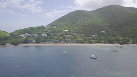 Aerial-over-the-shores-and-beaches-of-Nevis-an-island-in-the-Caribbean-1