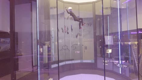 A-parabolic-chamber-indoor-skydiving-simulator-allows-people-to-float-as-if-in-a-weightless-zero-gravity-simulation-in-Bruges-Belgium-1