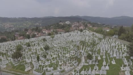 Aerial-of-a-large-cemetery-with-gravestones-near-Sarajevo-Bosnia-following-the-devastating-civil-war-in-the-former-Yugoslavia-2