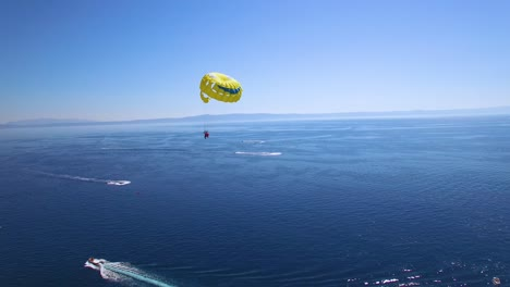 Beautiful-aerial-over-parasailing-parasailors-near-Hvar-on-the-Adriatic-coastline-Croatia