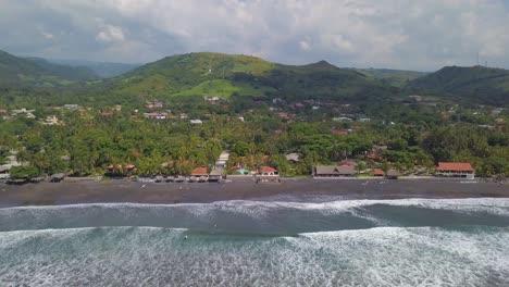 Aerial-drone-shot-over-the-coast-of-El-Salvador