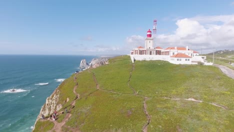 Aerial-over-the-Cabo-Da-Roca-cliffs-and-shoreline-Portugal-1