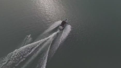 Good-aerial-of-water-skiing-wakeboard-on-alke-in-Interlaken-Switzerland-2