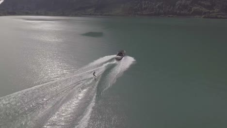Good-aerial-of-water-skiing-wakeboard-on-alke-in-Interlaken-Switzerland-3