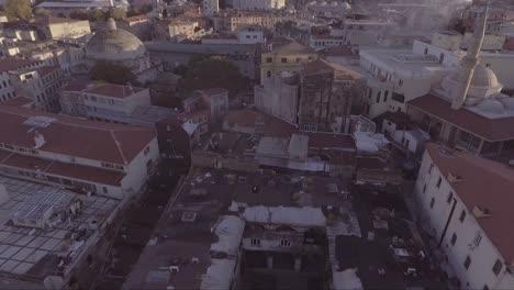 Muy-Buena-Antena-Del-Horizonte-De-La-Ciudad-Vieja-De-Estambul-Turquía-Con-Mezquitas-1