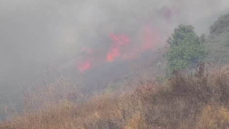 A-Brush-Fire-Burns-Out-Of-Control-During-The-Easy-Fire-Near-Simi-Valley-Los-Angeles-Ventura-County-California