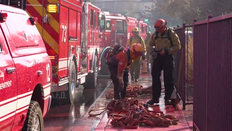 Firefighters-Mop-Up-After-The-Easy-Fire-Wildfire-Brushfire-In-The-Hills-Of-Southern-California