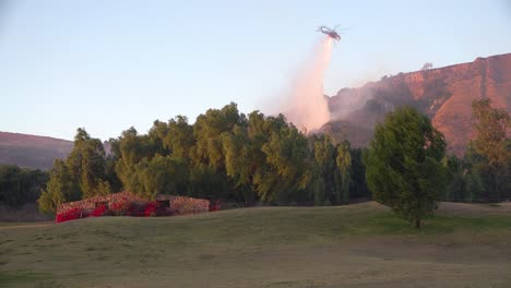 A-Helicopter-Makes-Water-Drops-During-The-Easy-Fire-Brushfire-In-The-Hills-Above-Southern-California