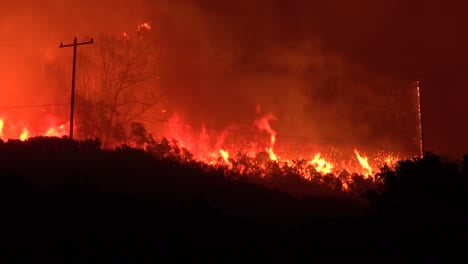 The-Cave-Fire-Wildfire-Burns-At-Night-And-Consumes-Acres-Of-Brush-In-The-Hills-Above-Santa-Barbara-California